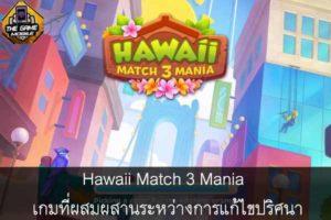 Hawaii Match 3 Mania เกมที่ผสมผสานระหว่างการแก้ไขปริศนา